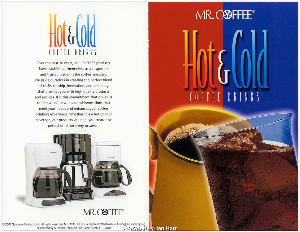 Mr Coffee hot and cold magazine Ad