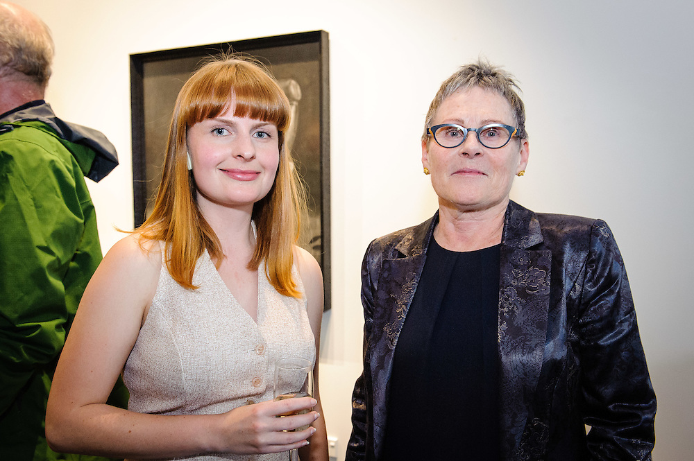 WELLINGTON, NEW ZEALAND - April 20: Emily Hartley-Skudder and Susan Skudder at Suite Gallery opening of Ans Westra living museum April 20, 2016 in Wellington, New Zealand. (Photo by Elias Rodriguez)