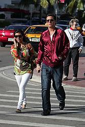 January 2 2008, Miami Beach, FL Kourtney Kardashian and her boyfriend Scott Diesick out on Collins Avenue in Miami Beach, FL  (Credit Image: