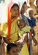 Young mothers with their children in India