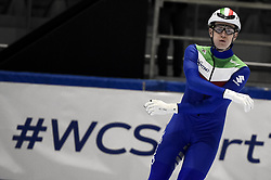 February 8, 2019 - Torino, Italia - Foto LaPresse/Nicolò Campo .8/02/2019 Torino (Italia) .Sport.ISU World Cup Short Track Torino - 1500 meter Men Quater Finals.Nella foto: Andrea Cassinelli..Photo LaPresse/Nicolò Campo .February 8, 2019 Turin (Italy) .Sport.ISU World Cup Short Track Turin - 1500 meter Men Quater Finals.In the picture: Andrea Cassinelli (Credit Image: © Nicolò Campo/Lapresse via ZUMA Press)