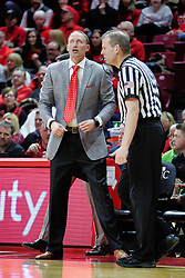 NORMAL, IL - February 02: Randy Heimerman strolls past an excited Dan Muller during a college basketball game between the ISU Redbirds and the University of Loyola Chicago Ramblers on February 02 2019 at Redbird Arena in Normal, IL. (Photo by Alan Look)