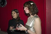 Bella Freud and Cozette McCreery, SOLANGE AZAGURY-PARTRIDGE  launches her new diamond collection PLATONIC and second perfume COSMIC at her shop 187 Westbourne Grove, London.  W11 13 November 2007. -DO NOT ARCHIVE-© Copyright Photograph by Dafydd Jones. 248 Clapham Rd. London SW9 0PZ. Tel 0207 820 0771. www.dafjones.com.