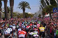 Start, Landscape, Peloton, Alghero City, during the 100th Tour of Italy 2017, Giro d'Italia, Stage 1, Alghero - Olbia (206km), on May 5, in Sardegna, Italy - Photo Tim De Waele / ProSportsImages / DPPI