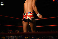 """Zack Sabre, Jr. enters the ring at the Beyond Wrestling Organization's """"Dream Left Behind"""" event, held at the Center for Arts at the Armory in Somerville, Sunday, Jan. 31, 2016."""
