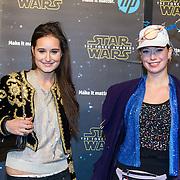 NLD/Amsterdam/20151215 - première van STAR WARS: The Force Awakens!, Jill Schirnhofer en vriendin ......