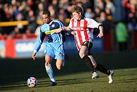 Danny Senda, left for Wycombe,Brian Wilson right for Cheltenham<br /> <br /> Photo: Richard Eaton.<br /> <br /> Cheltenham Town v Wycombe Wanderers. Coca Cola League 2. 04/03/2006.