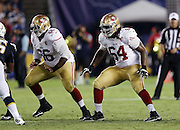 San Francisco 49ers offensive tackle Fahn Cooper (64) blocks next to San Francisco 49ers center Marcus Martin (66) along the line of scrimmage during the 2016 NFL preseason football game against the San Diego Chargers on Thursday, Sept. 1, 2016 in San Diego. The 49ers won the game 31-21. (©Paul Anthony Spinelli)