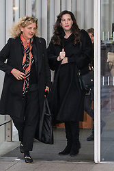 Actress Liv Tyler, right, leaves the Chris Evans Breakfast show at Virgin Radio in London. London, February 08 2019.