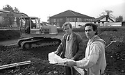 Maurice O'Donoghue, building the Aquila Club at the Glen Eagle in with Pat O'Connor  1991.<br /> Photo: Don MacMonagle <br /> e: info@macmonagle.com