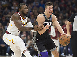 December 27, 2017 - Sacramento, CA, USA - The Sacramento Kings' Bogdan Bogdanovic drives against the Cleveland Cavaliers' Jae Crowder, left, on Wednesday, Dec. 27, 2017, at Golden 1 Center in Sacramento, Calif. (Credit Image: © Hector Amezcua/TNS via ZUMA Wire)