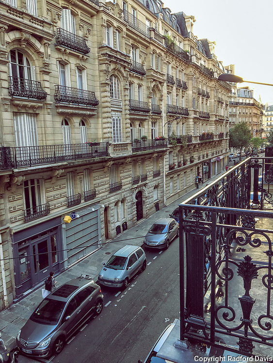 Streets, buildings and architecture of Paris, France.