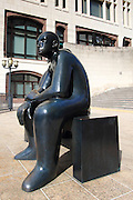 One of the many sculptures around Canary Wharf, the private business estate in London's East End, on the Isle of Dogs.