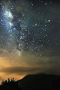 KARO, INDONESIA - MAY 26: <br /> <br /> Milky Way in Mount Sinabung Volcano<br /> <br /> A view of milky way at Mount Sinabung volcano erupts on May 18, 2015 Karo, North Sumatra, Indonesia. <br /> ©Tibt Nangin/Exclusivepix Media