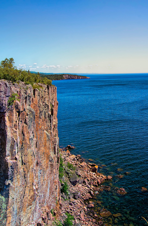 Palisade Head is a large rock formation on the North Shore of Lake Superior in Minnesota. It is within Tettegouche State Park on scenic Minnesota State Highway 61 in Beaver Bay Township. The shear cliffs at Palisade Head is one of the states most challenging climbs in the state.