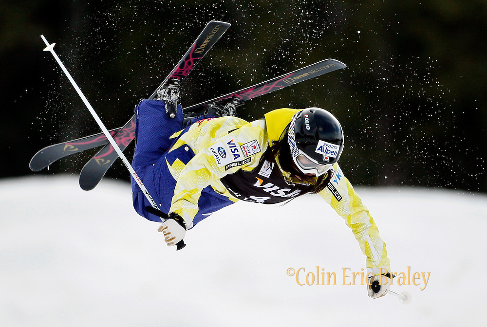 Japan's Aiko Uemura competes in the moguls qualification at the World Cup freestyle skiing competition at  Deer Valley Resort, Saturday, Jan. 16, 2010, in Park City, Utah. (AP Photo/Colin E Braley).