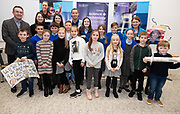 24/11/2019 repro free:<br />  Paul Mee, Chairperson, Galway Science and Technology Festival,  with Ronan Rogers - Senior R&D Director, Medtronic  and Brid Seoige NUIG  with Milltown NS who were Awardees at the  Galway Science and Technology Festival, exhibition at NUI Galway where over 20,000 people attended exhibition stands  from schools to Multinational Companies . Photo:Andrew Downes, xposure