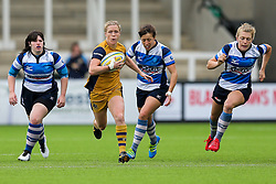 Nolli Waterman of Bristol Ladies in action - Rogan Thomson/JMP - 08/10/2016 - RUGBY UNION - Kingston Park - Newcastle, England - Darlington Mowden Park Sharks v Bristol Ladies Rugby - RFU Women's Premiership.
