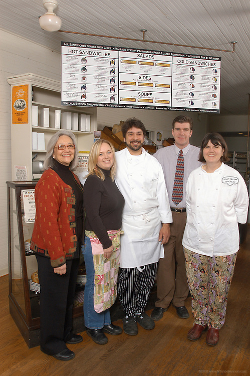 The Richardson Family: Josephine Richardson of The Courthouse Café in Whitesburg, left, with her son Chef Jared Richardson and his wife Paige of Wallace Station in Versailles, left, with her sister Chef Ouita and her husband Chris Michel of the Holly Hill Inn in Midway.