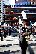 The Oregon Marching Band marches in the Calgary Stampede Parade in Alberta, Canada on July 8, 2011.
