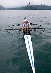 Matevz Malesic (L) and Jure Cvet of Slovenia during finals B at Rowing World Cup  on May 30, 2010, at Bled's lake, Bled, Slovenia. (Photo by Vid Ponikvar / Sportida)