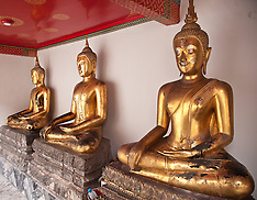 Buddhas, Wat Po Temple, Bangkok, Thailand