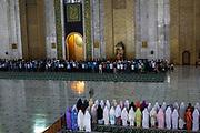 Prayers at Al Akbar Mosque (Great Mosque) of Surabaya, Indonesia.