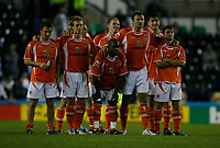 Photo: Steve Bond.<br />Derby County v Blackpool. Carling Cup. 28/08/2007. Blackpool watch the last penalty