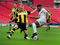 Football - 2019 / 2020 Buildbase FA Vase - Final - Consett vs Hebburn Town - Wembley Stadium<br /> <br /> Ali Alshabeeb of Consett is challenged by Daniel Carson of Hebburn <br /> <br /> Credit : COLORSPORT/ANDREW COWIE