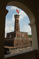 The Flag Tower of Hanoi is one of the symbols of the city and a part of the Hanoi Citadel.  The tower was built in 1812, and unlike other structures in Hanoi, was not destroyed during the French administration as it was also used by the French as a military post. Now it is a part of the Vietnam Military History Museum.   The National Flag of Vietnam is on top of the tower.