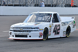 June 22, 2018 - Madison, Illinois, U.S. - MADISON, IL - JUNE 22:  Chad Finley (42) driving a Chevrolet for Certified Service Center warms up before  the Camping World Truck Series - Eaton 200 on June 22, 2018, at Gateway Motorsports Park, Madison, IL.   (Photo by Keith Gillett/Icon Sportswire) (Credit Image: © Keith Gillett/Icon SMI via ZUMA Press)