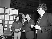 06/01/1978.01/06/1978.6th January 1978.The Aer Lingus Young Scientist of the Year Exhibition at the RDS, Dublin. ..L-R, A student(unknown) shows her exhibit on Food Hygiene to John Wilson T.D., Minister for Education and Charles Haughey, T.D., Minister for Health and Social Welfare.