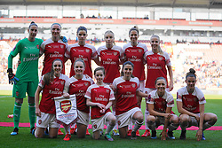 February 23, 2019 - Sheffield, England, United Kingdom - Arsenal Team..during the FA Women's Continental League Cup Final football match between Arsenal Women and Manchester City Women at Bramall Lane on February 23, 2019 in Sheffield, England. (Credit Image: © Action Foto Sport/NurPhoto via ZUMA Press)