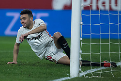 January 16, 2019 - Sevilla, Andalucia, Spain - Munir of Sevilla FC during the Copa del Rey match between Sevilla FC v Athletic Club at the Ramon Sanchez Pizjuan Stadium on January 16, 2019 in Sevilla, Spain (Photo by Javier Montaño/Pacific Press) (Credit Image: © Javier MontañO/Pacific Press via ZUMA Wire)