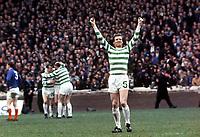 Billy McNeil (Celtic) Celebrates a Celtic goal. Scottish Cup Final 1969 Celtic v Rangers. Credit:Colorsport.