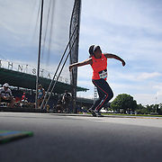 Gia Lewis-Smallwood, USA, in action in the Women's Discus throw event during the Diamond League Adidas Grand Prix at Icahn Stadium, Randall's Island, Manhattan, New York, USA. 13th June 2015. Photo Tim Clayton