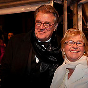 NLD/Amsterdam/20081208 - Premiere Wit Licht, Jeroen Krabbe en partner Herma