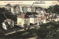 Zagreb : Pogled na Mošinskijevu ul. i okolicu. <br /> <br /> Impresum[S. l. : S. n., 1913].<br /> Materijalni opis1 razglednica : tisak ; 8,9 x 14 cm.<br /> Vrstavizualna građa • razglednice<br /> ZbirkaZbirka razglednica • Grafička zbirka NSK<br /> ProjektPozdrav iz Hrvatske<br /> Formatimage/jpeg<br /> PredmetZagreb –– Ulica Vladimira Nazora<br /> Jezikhrvatski<br /> SignaturaRZG-NAZ-1<br /> Obuhvat(vremenski)20. stoljeće<br /> NapomenaRazglednica je putovala 1913. godine.<br /> PravaJavno dobro<br /> Identifikatori000954496<br /> NBN.HRNBN: urn:nbn:hr:238:122980 <br /> <br /> Izvor: Digitalne zbirke Nacionalne i sveučilišne knjižnice u Zagrebu