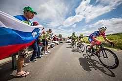 Jon Bozic of Adria Mobil Cycling Team during 1st Stage of 25th Tour de Slovenie 2018 cycling race between Lendava and Murska Sobota (159 km), on June 13, 2018 in  Slovenia. Photo by Vid Ponikvar / Sportida