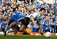 Photo: Ed Godden/Sportsbeat Images.<br /> Chelsea v Tottenham Hotspur. The FA Cup. 11/03/2007.<br /> Chelsea's Shaun Wright-Phillips (L) and Hossam Ghaly colide.
