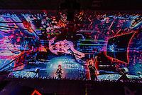 Light show, Fremont Street Experience, Downtown Las Vegas, Nevada USA.