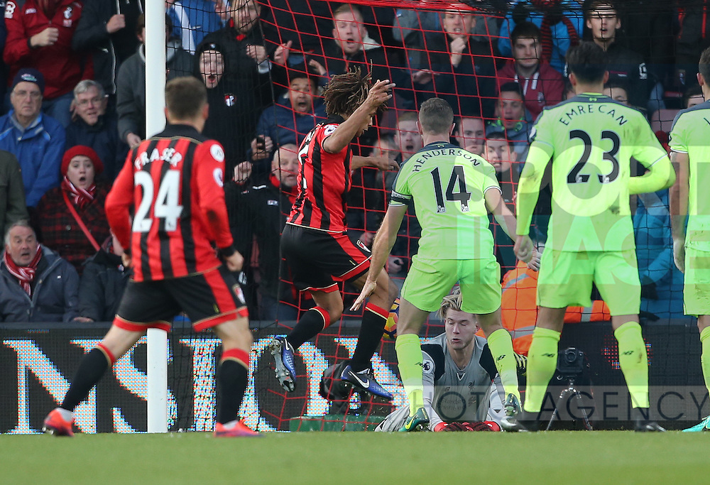 Bournemouth's Nathan Ake scoring his sides foirth goal during the Premier League match at the Vitality Stadium, London. Picture date December 4th, 2016 Pic David Klein/Sportimage