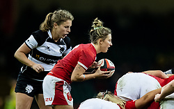 Keira Bevan of Wales puts in at the scrum<br /> <br /> Photographer Simon King/Replay Images<br /> <br /> Friendly - Wales v Barbarians - Saturday 30th November 2019 - Principality Stadium - Cardiff<br /> <br /> World Copyright © Replay Images . All rights reserved. info@replayimages.co.uk - http://replayimages.co.uk