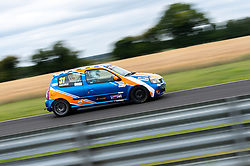 Jay Daniels pictured competing in the 750 Motor Club's Clio 182 Championship. Image captured at Snetterton on July 18, 2020 by 750 Motor Club's photographer Jonathan Elsey