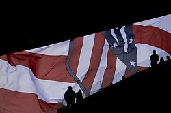 March 11, 2018 - Madrid, Madrid, Spain - Atletico de Madrid flag during a match between Atletico de Madrid vs Celta de Vigo at Wanda Metropolitano Stadium on Febraury 18, 2018 in Madrid, Spain. (Credit Image: © Patricio Realpe/NurPhoto via ZUMA Press)