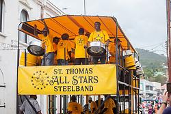 St. Thomas All Stars Steel Band.  Carnival 2017 Adults' Parade.  Charlotte Amalie.  St. Thomas, USVI.  29 April 2017.  © Aisha-Zakiya Boyd