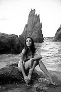 Model Luna Escribano at Punta Tuna Beach in Maunabo, Puerto Rico. (2010)