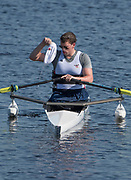 Sarasota. Florida USA. USA. PR1 M1X. Blake HAXTON, soaks his hat before the start at the 2017 FISA World Rowing Championships, Nathan Benderson Park<br /> <br /> Tuesday  26.09.2017   <br /> <br /> [Mandatory Credit. Peter SPURRIER/Intersport Images].