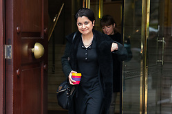 © Licensed to London News Pictures. 04/04/2019. London, UK. Shami Chakrabarti leaving after appearing on a radio interview. MPs voted last night by a majority of one to extend article 50. The bill will be passed to the House of Lords today. Photo credit : Tom Nicholson/LNP