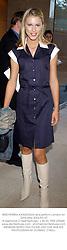 MISS PETRINA KHASHOGGI at a party in London on 22nd May 2002.PAI 27